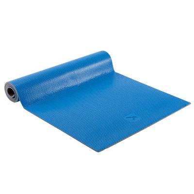 500 Pilates & Toning Shoe-Resistant Floor Mat Size M 7 mm - Blue