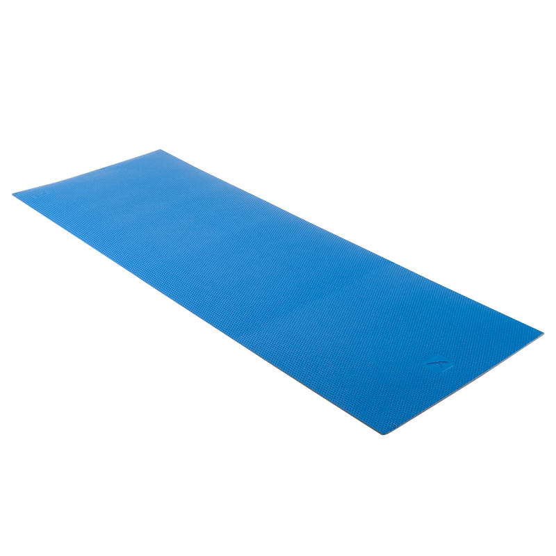 500 Pilates & Toning Shoe-Resistant Floor Mat Size M 7 mm - Blue