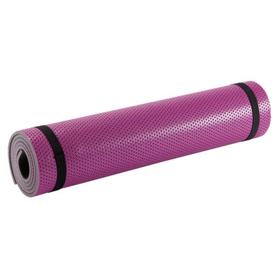 500 Pilates & Toning Shoe-Resistant Floor Mat Size M 7 mm - Pink