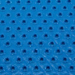 Schoenbestendig gymmatje voor pilates/figuurtraining 500 maat M 7 mm blauw