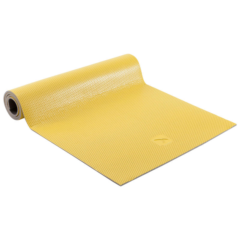 500 Durable Shoe-Resistant Pilates Toning Floor Mat Size M 7mm - Yellow