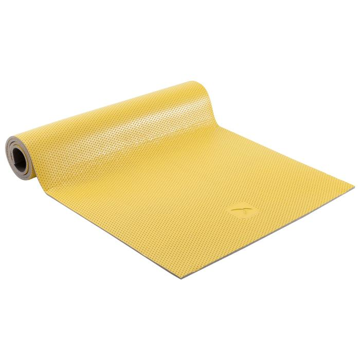 500 Durable Shoe-Resistant Pilates Toning Floor Mat Size M 7mm - Yellow