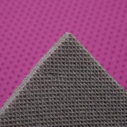 Gymnastikmatte 500 abriebfest faltbar Pilates Toning Größe M 7mm rosa