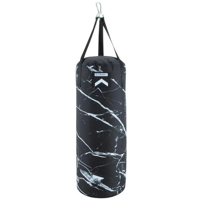 Boxsack leer Punching Bag 850 schwarz/weiß