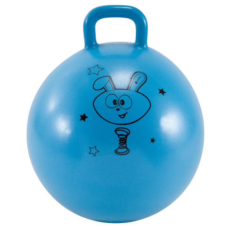 DROBNÉ PŘÍSLUŠENSTVÍ NA CVIČENÍ PRO DĚTI Cvičení pro děti - SKÁKACÍ MÍČ RESIST 45 CM BLUE DOMYOS - Cvičení pro děti