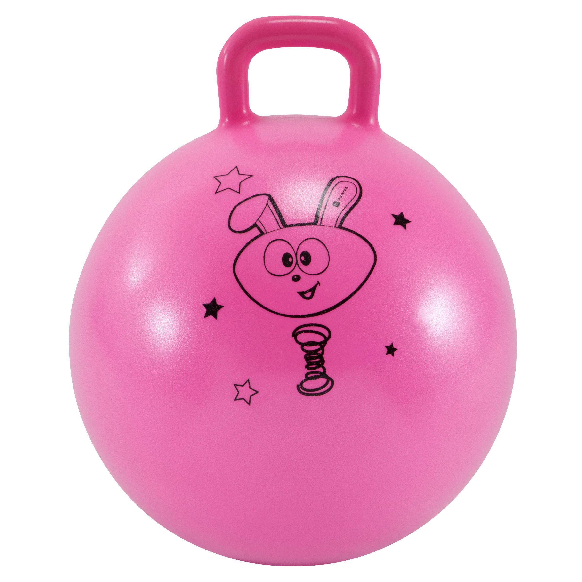 Balon saltador rosado