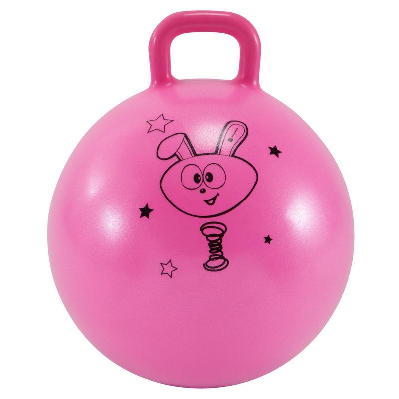 Pelota Saltarina Balón Saltador Gimnasia Domyos 45cm rosa