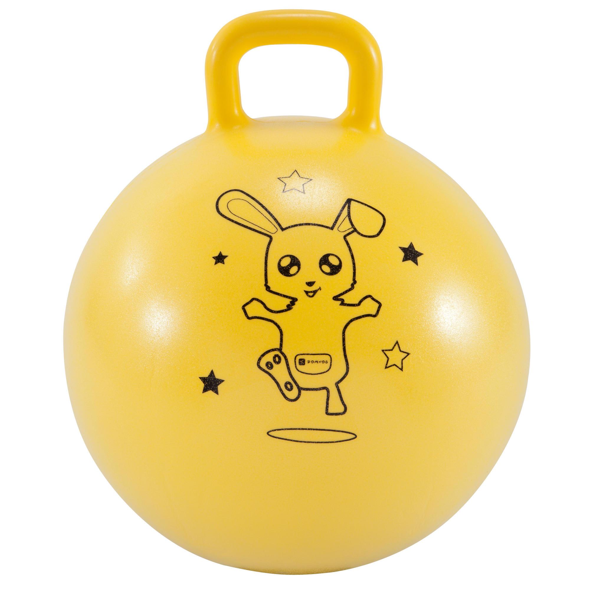 ballon sauteur resist 45 cm gym enfant jaune domyos by decathlon. Black Bedroom Furniture Sets. Home Design Ideas