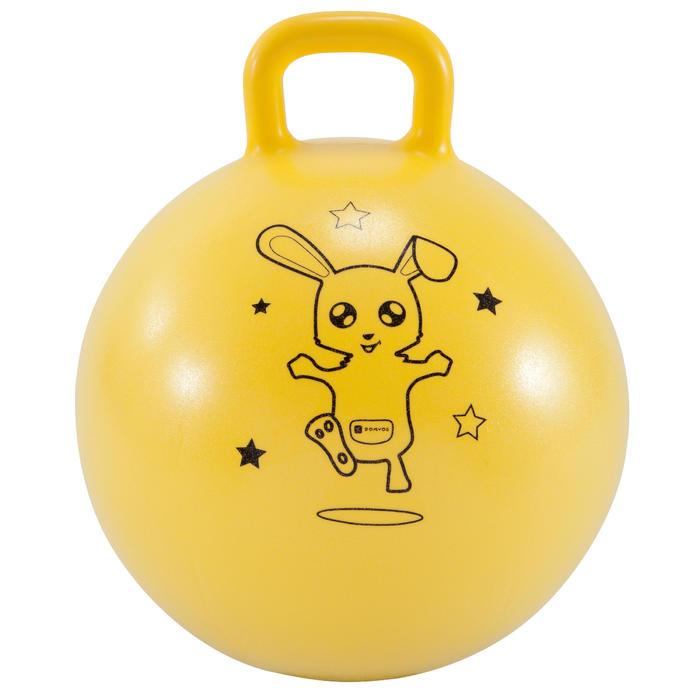 Pelota Saltarina Balón Saltador Gimnasia Domyos AB 45CM Niño Amarillo