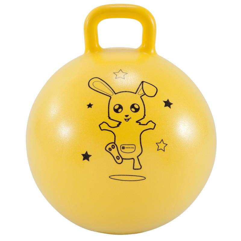 Pelota Saltarina Balón Saltador Gimnasia Domyos 45cm amarillo