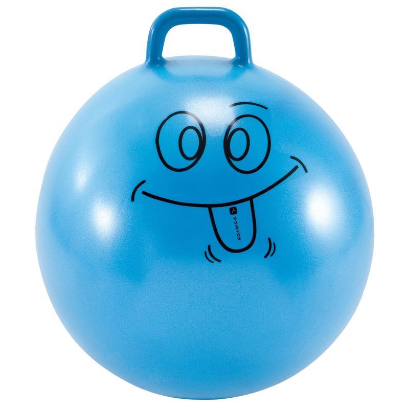 Palla per saltare bambino ginnastica RESIST 60cm azzurra