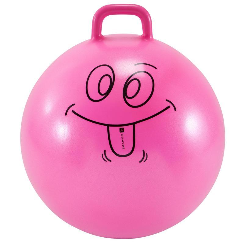 Ballon Sauteur Resist 60 cm gym enfant rose