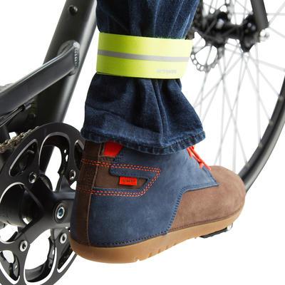 מהדק מכנסיים לרכיבה על אופניים Textile 500 - צהוב
