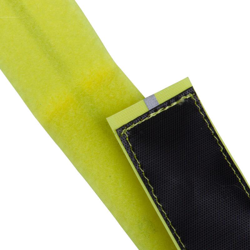 ที่รัดขากางเกงปั่นจักรยานแบบผ้ารุ่น 500 (สีเหลือง)