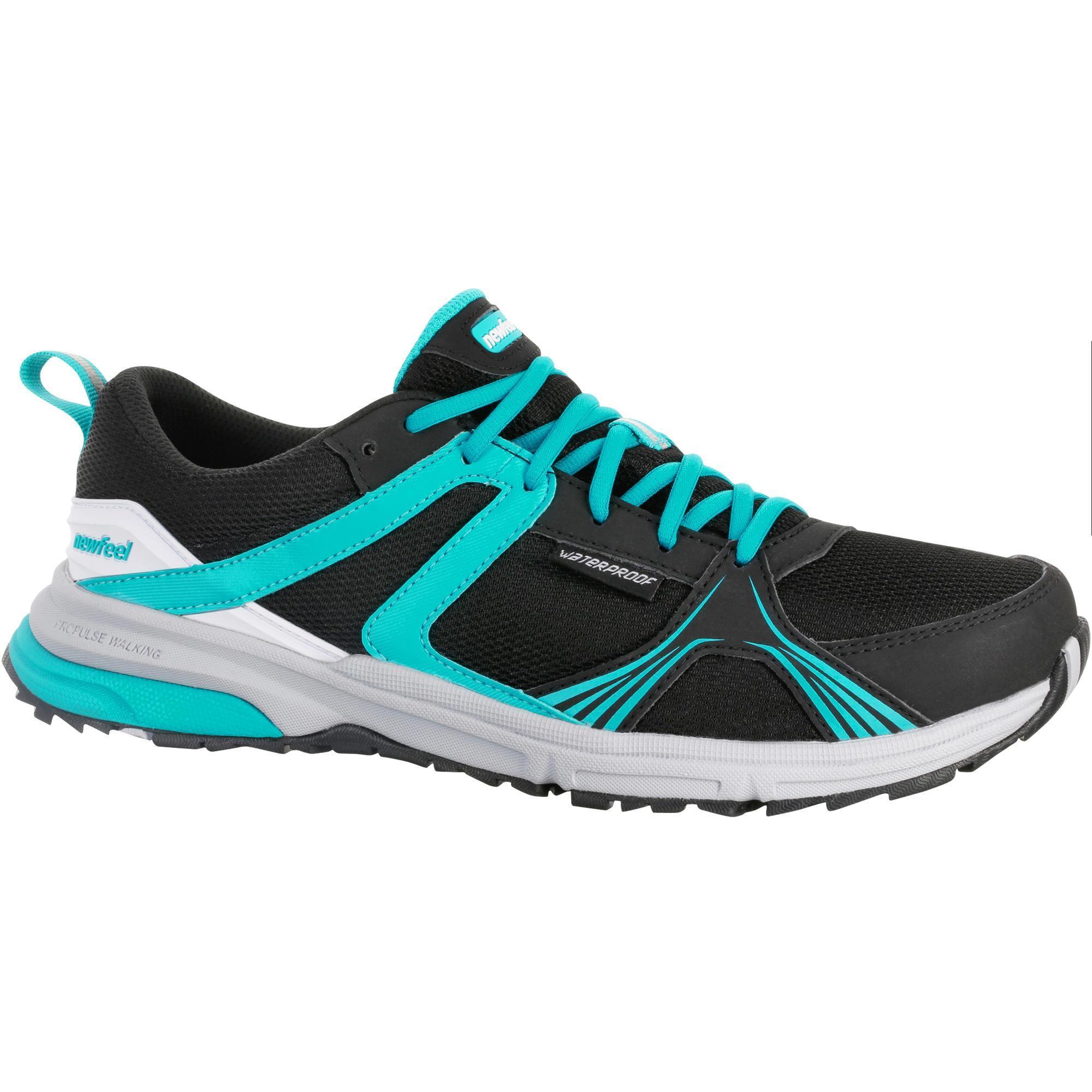 0baede63590 ... chaussures marche nordique femme propulse walk 380 noir bleu newfeel