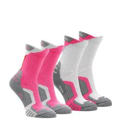 Crossocks Children's High Mountain Hiking Socks 2-Pack - Red