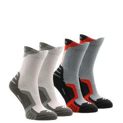 2 paires de chaussettes de randonnée montagne tige haute enfant crossocks