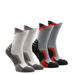 Crossocks 兒童高筒山區健行運動襪 2雙入 - 紅色