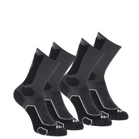 High Mountain Hiking Socks. MH 500 2 pairs - Black Grey.