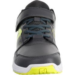 Kindersneakers voor wandelen en sport op school Protect 140 grijs / geel