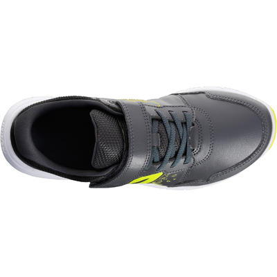 Tenis de Marcha Deportiva niño Newfeel Protect 140 negro y gris