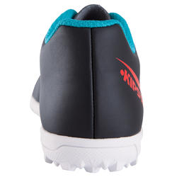 First 100 HG Children's Football Boot for Hard Pitches - Black/Red/Blue