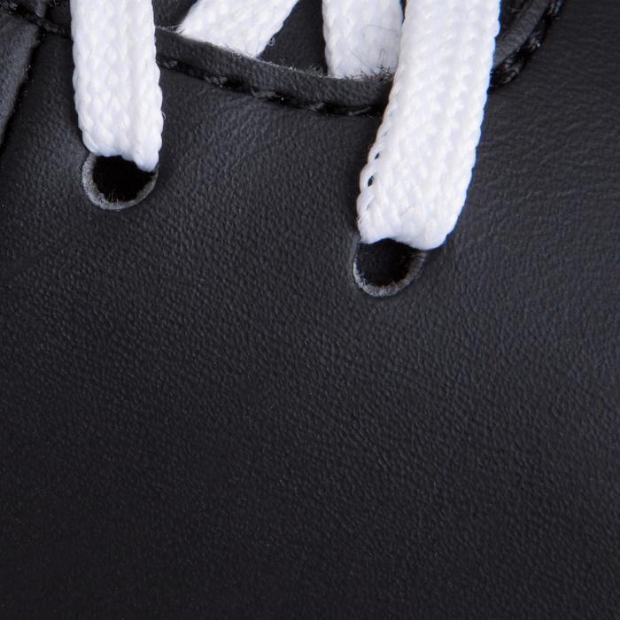 Voetbalschoenen First 100 HG voor hard terrein kinderen zwart/rood/blauw