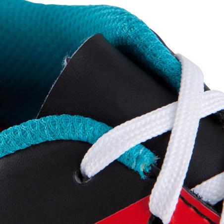 Sepatu Sepakbola Lapangan Keras First 100 HG Dewasa - Hitam Putih Merah