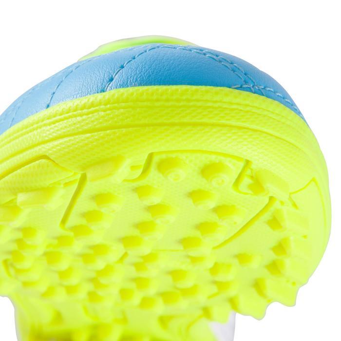 Voetbalschoenen Agility 500 HG voor hard terrein, kinderen, blauw/geel