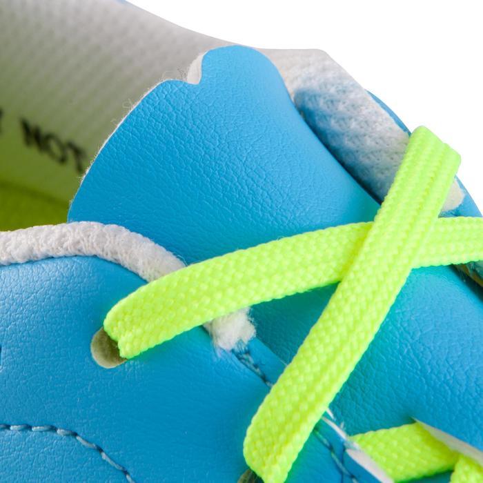 Chaussure de football enfant terrains durs Agility 500 HG bleue jaune