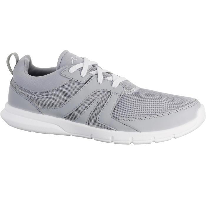 Zapatillas de marcha deportiva para mujer Soft 100 mesh gris claro