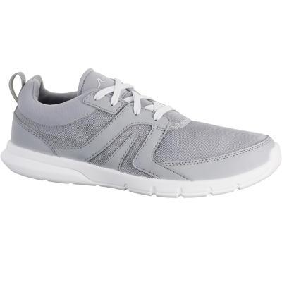 Tenis de marcha deportiva para mujer Soft 100 gris clarito