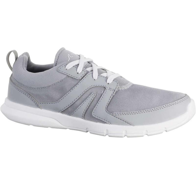 WOMEN SPORT WALKING SHOES - Soft 100 mesh - light grey NEWFEEL