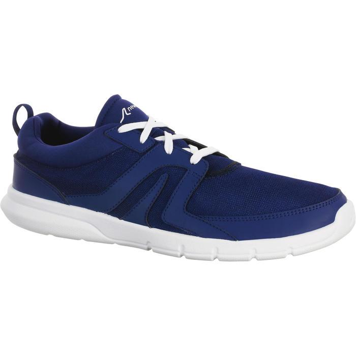 Chaussures marche sportive homme Soft 100 Mesh bleu foncé - 939373