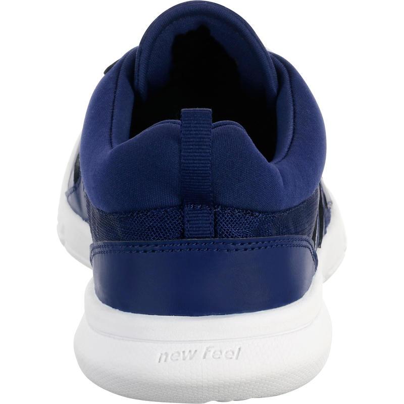 Chaussures marche sportive homme Soft 100 Mesh bleu foncé