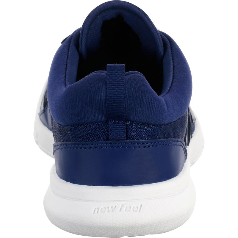 Soft 100 Men's Mesh Fitness Walking Shoes - Dark Blue