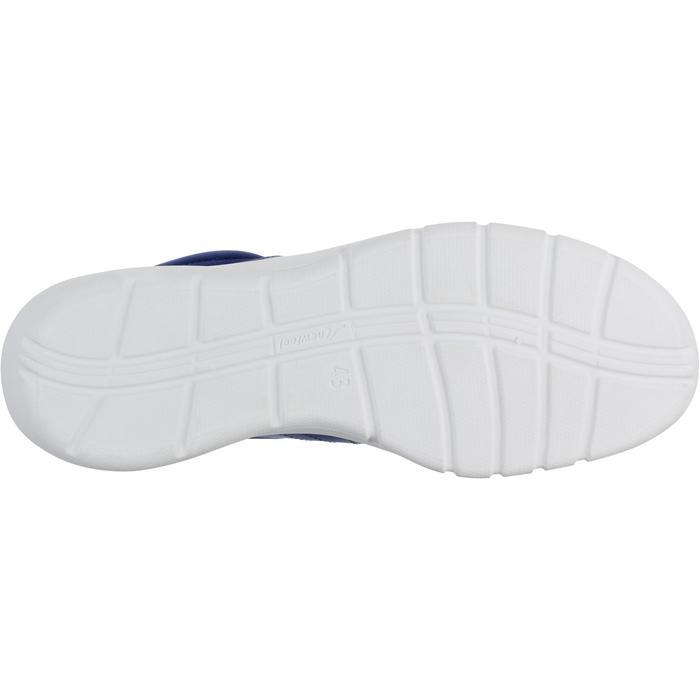 Herensneakers voor sportief wandelen Soft 100 mesh donkerblauw