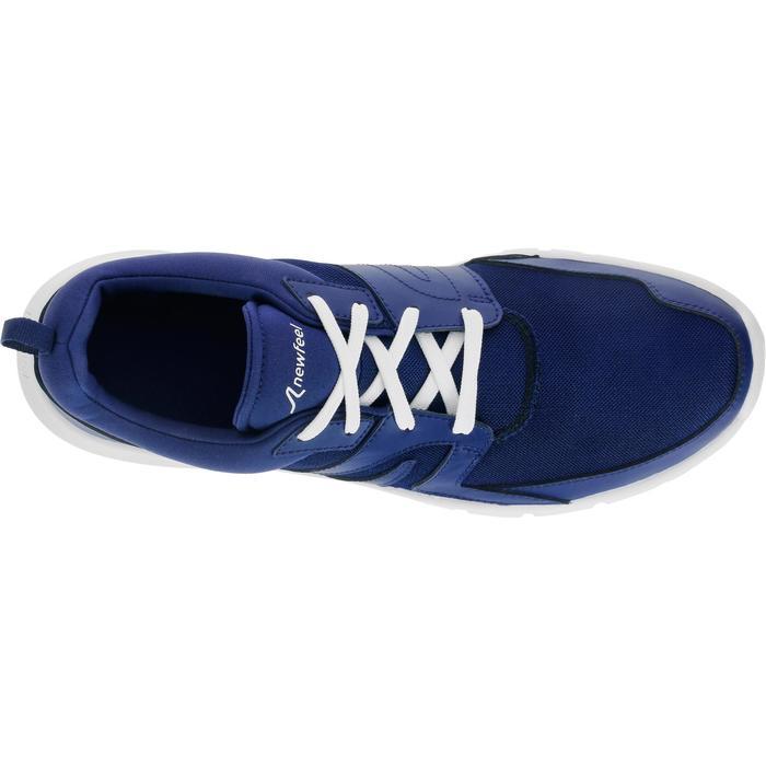 Chaussures marche sportive homme Soft 100 Mesh bleu foncé - 939386