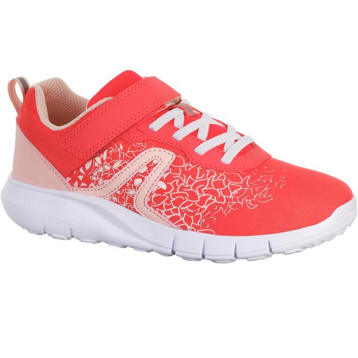 Zapatillas de Marcha Deportiva Newfeel Soft 140 niña rosa y coral