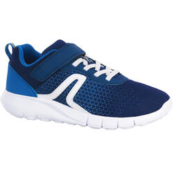 Walkingschuhe Soft 140 Kinder blau/weiß