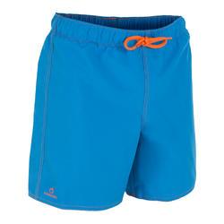 男童款短版衝浪褲Hendaia-藍色