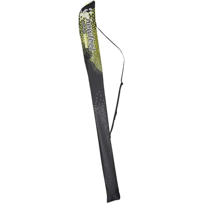 Tas voor nordic walking stokken NW B500 zwart / geel