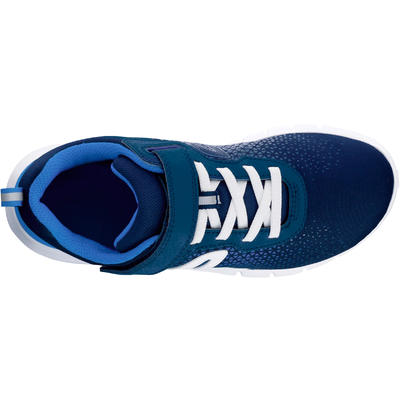 Tenis de marcha para niños Soft 140 azules oscuro/ blancos
