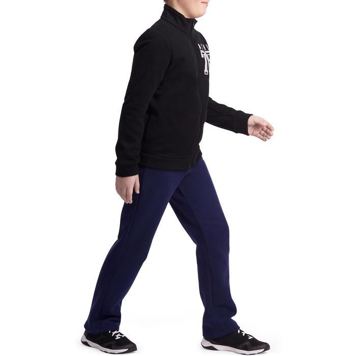 Warme jogging met print Warm'y jongens zwart rits