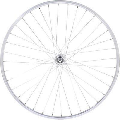 "Wheel 26"" Rear Single-Walled V-brake Freewheel Mountain Bike - Silver"