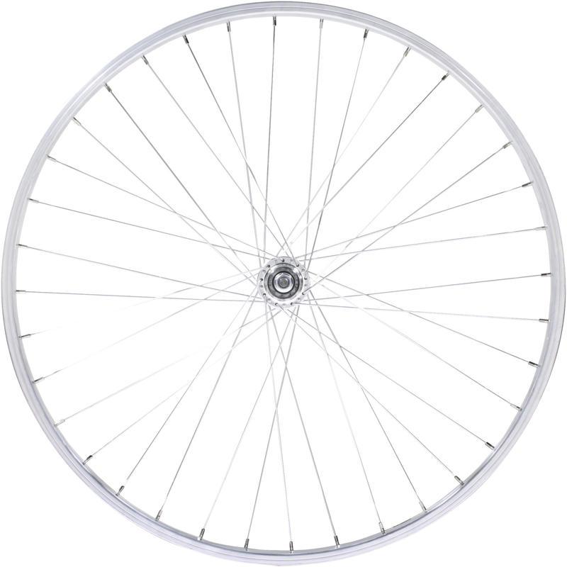 """26"""" MTB Rear Wheel - Silver"""