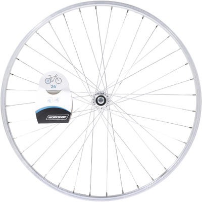 "Wheel 26"" Rear Single-Walled V-brake Freewheel Mountain Bike - Silver"