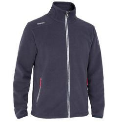男款遊艇競賽航海刷毛外套-深藍色