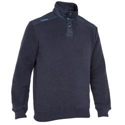 Segel-Pullover Sailing 100 warm Herren marineblau