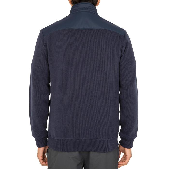 男款保暖航海立領針織衫Sailing 100-軍藍色
